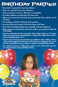Birthday Party Rules